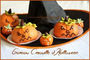 faire une citrouille d'halloween en pate d'amande