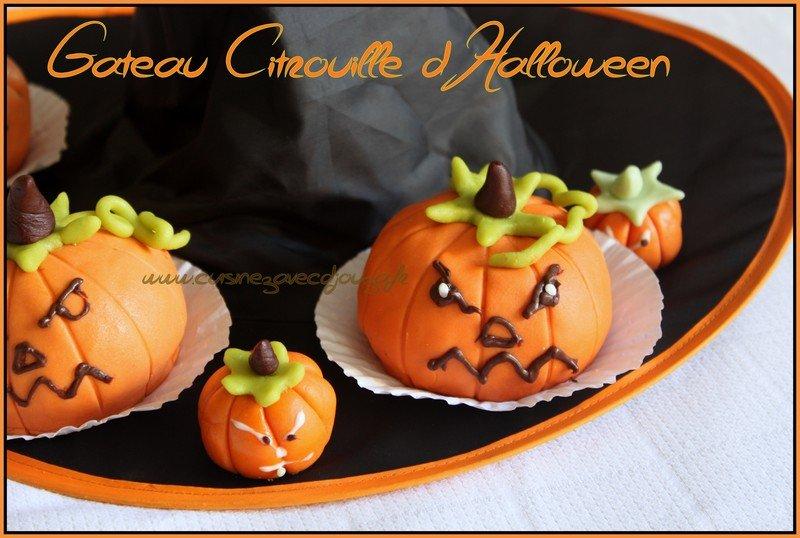 citrouille d'halloween en pate d'amande sans cuisson