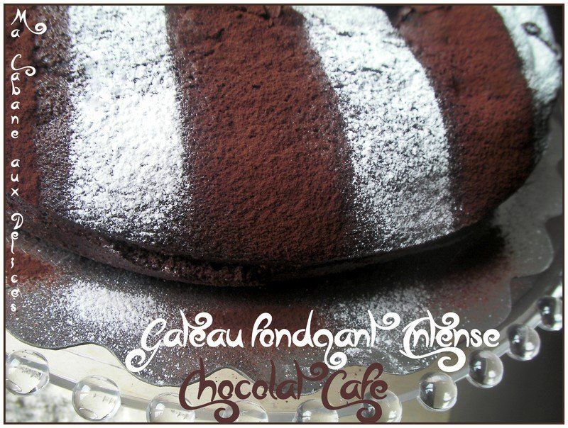 Gâteau fondant chocolat intense
