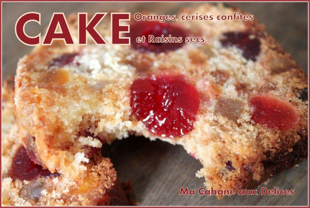 Cake de noel aux fruits confit