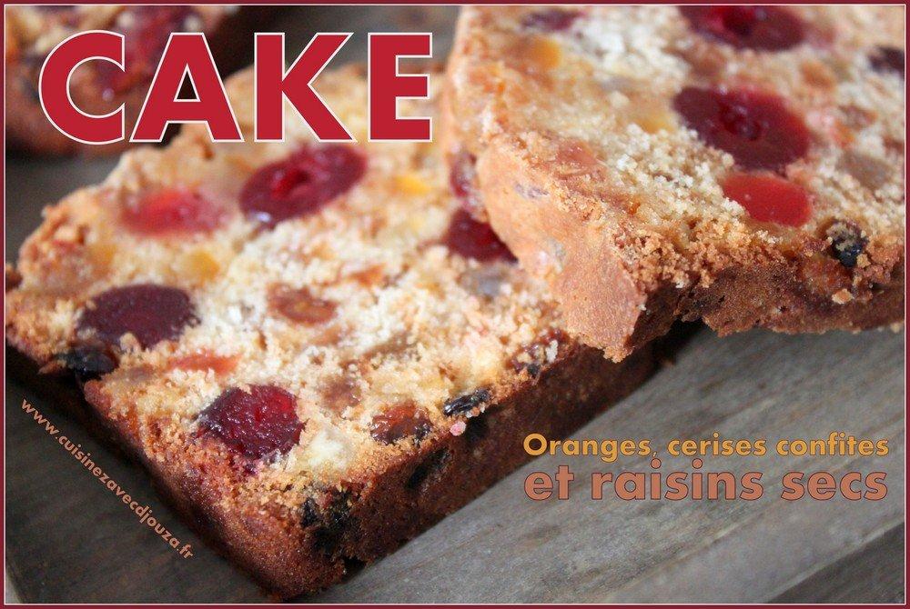 Cake de noel aux fruits confits