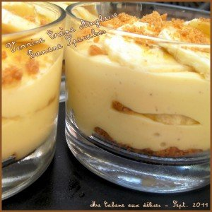 Verrine creme anglaise bananes speculoos