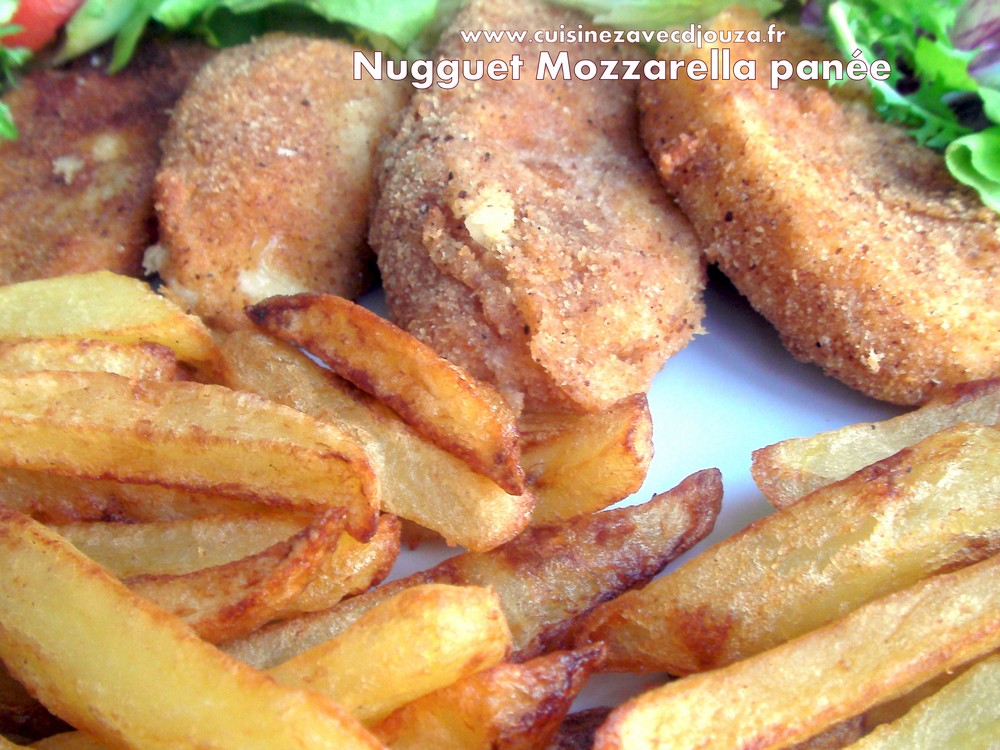 Nugguets de mozzarella panee