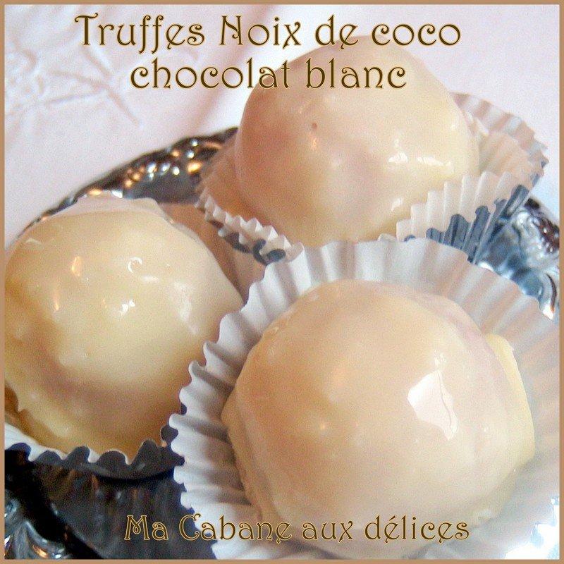 Truffe chocolat blanc noix de coco raffaelo