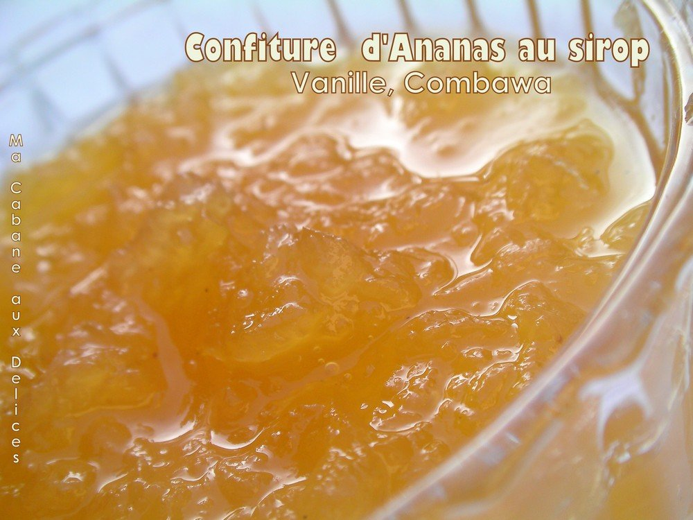 Confiture d'ananas au sirop vanille combawa
