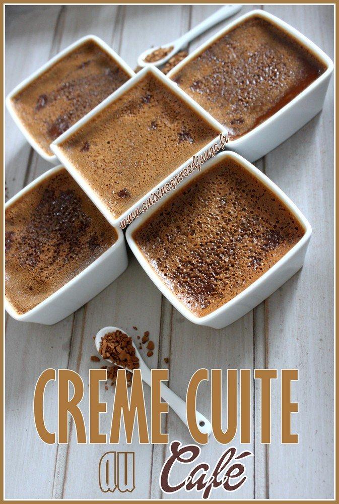 Creme cuite au four cafe