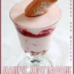 Mousse mascarpone framboises