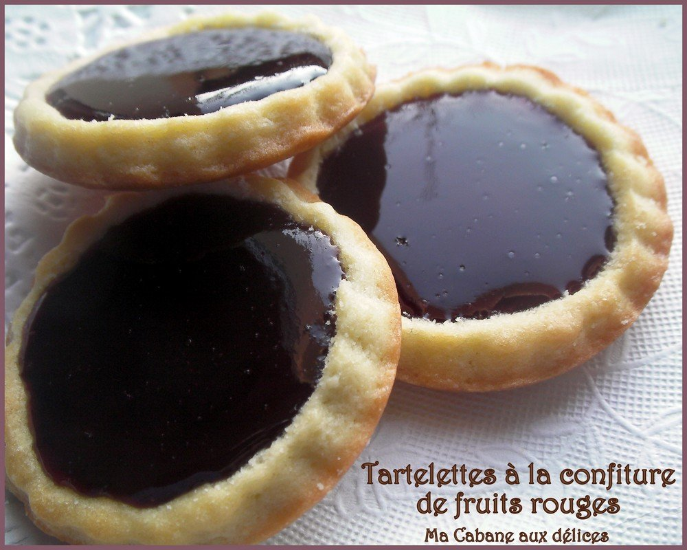 Tartelette confiture fruits rouges