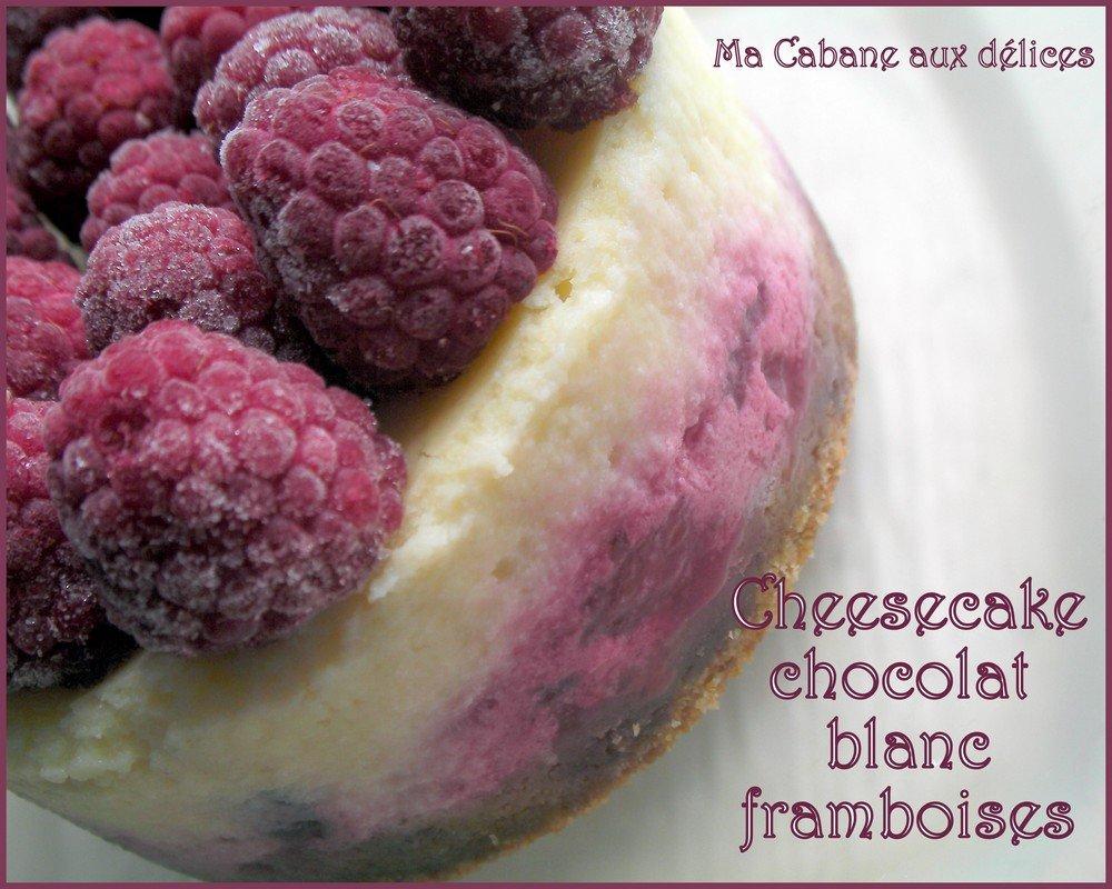 Cheesecake chocolat blanc framboises