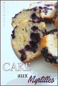 Cake aux myrtilles