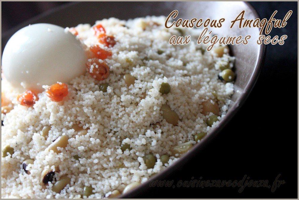 Couscous kabyle makfoul aux legumes secs