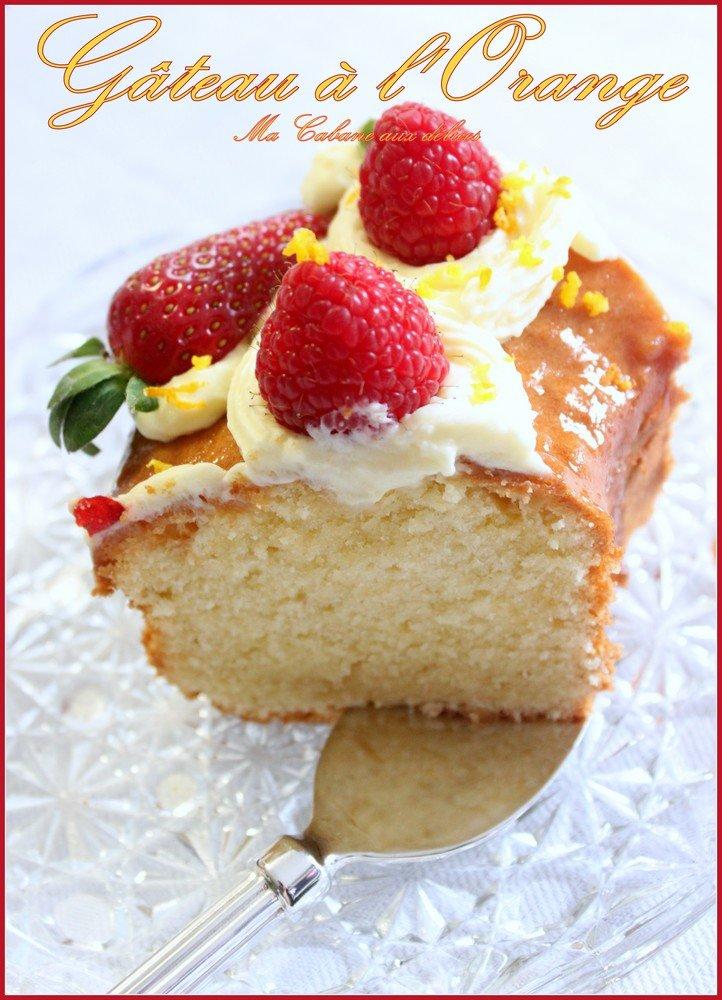 Gâteau moelleux a l'orange / crème diplomate