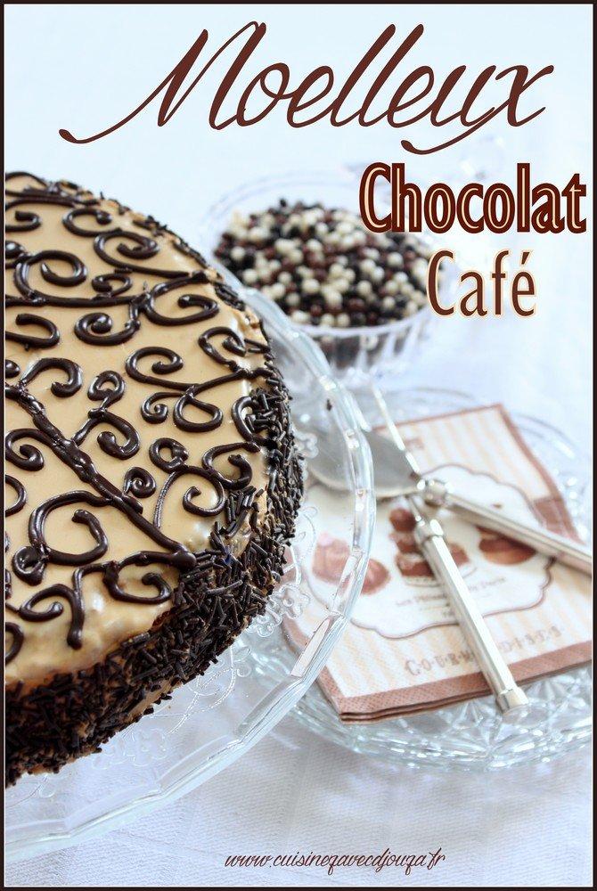 Gateau moelleux chocolat café