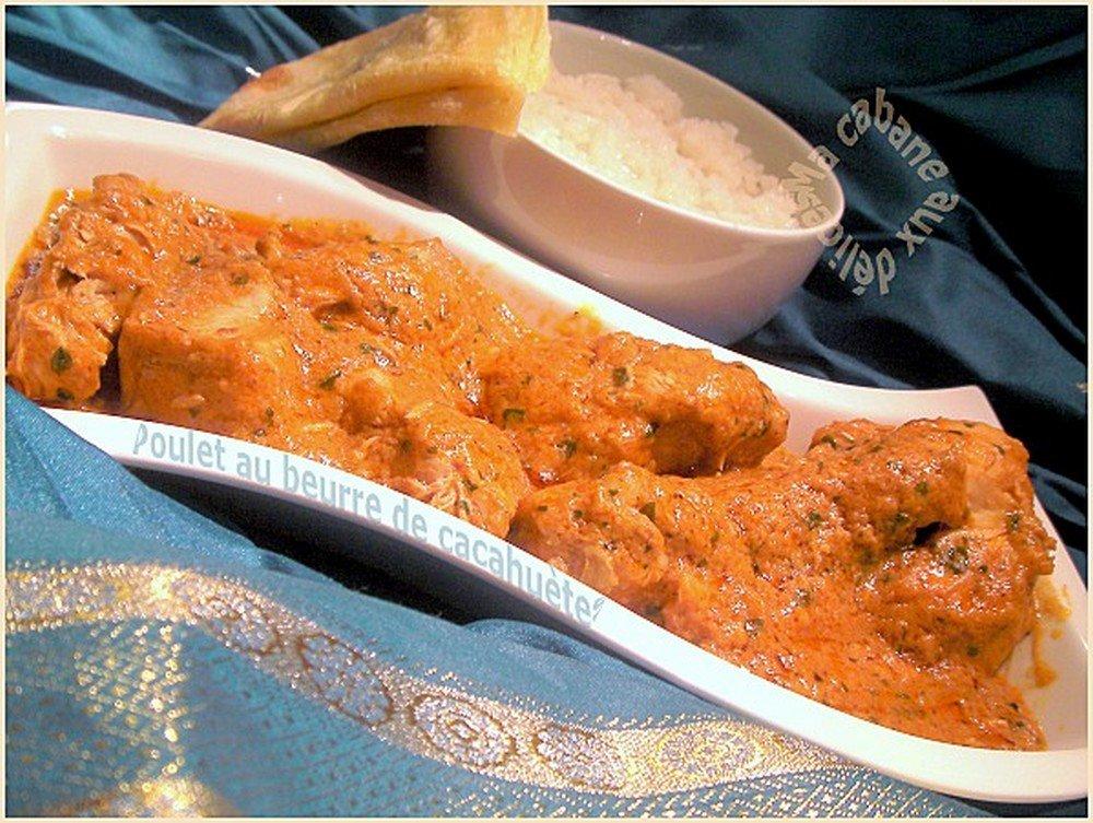 Poulet au curry beurre de cacahuetes