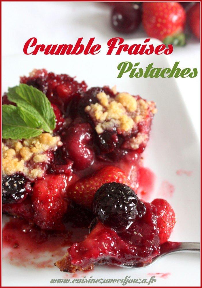 Crumble fraises cerises inversé