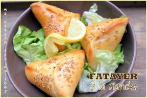 Fatayer chausson a la viande hachée et légumes, recette ramadan