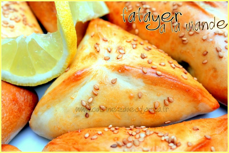 Fatayer a la viande hachée et légumes, recette ramadan 2015