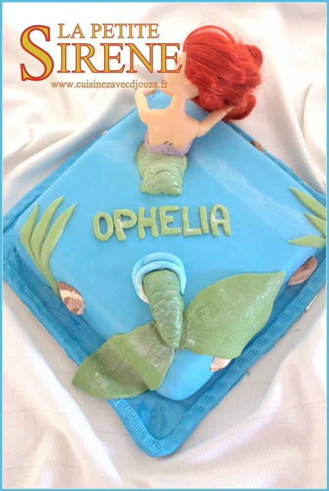 Gâteau Ariel la petite sirène