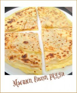 Msemen pizza