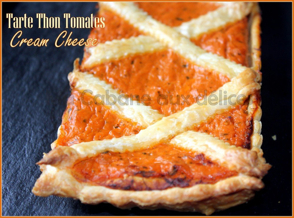 Tarte thon tomate cream cheese
