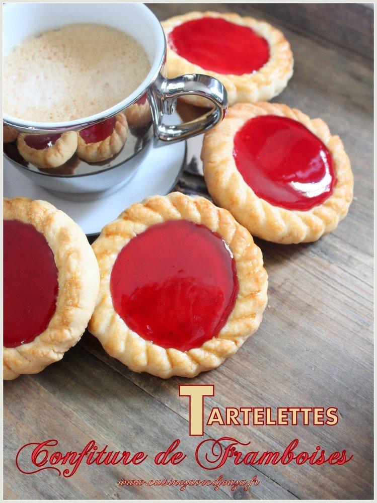 Tartelettes confiture de framboises