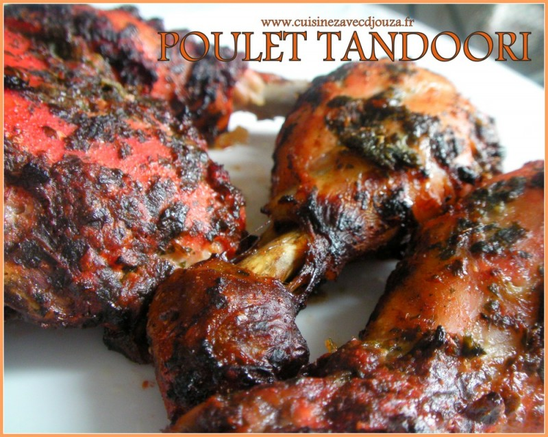 poulet tandoori au four recettes faciles recettes rapides de djouza. Black Bedroom Furniture Sets. Home Design Ideas