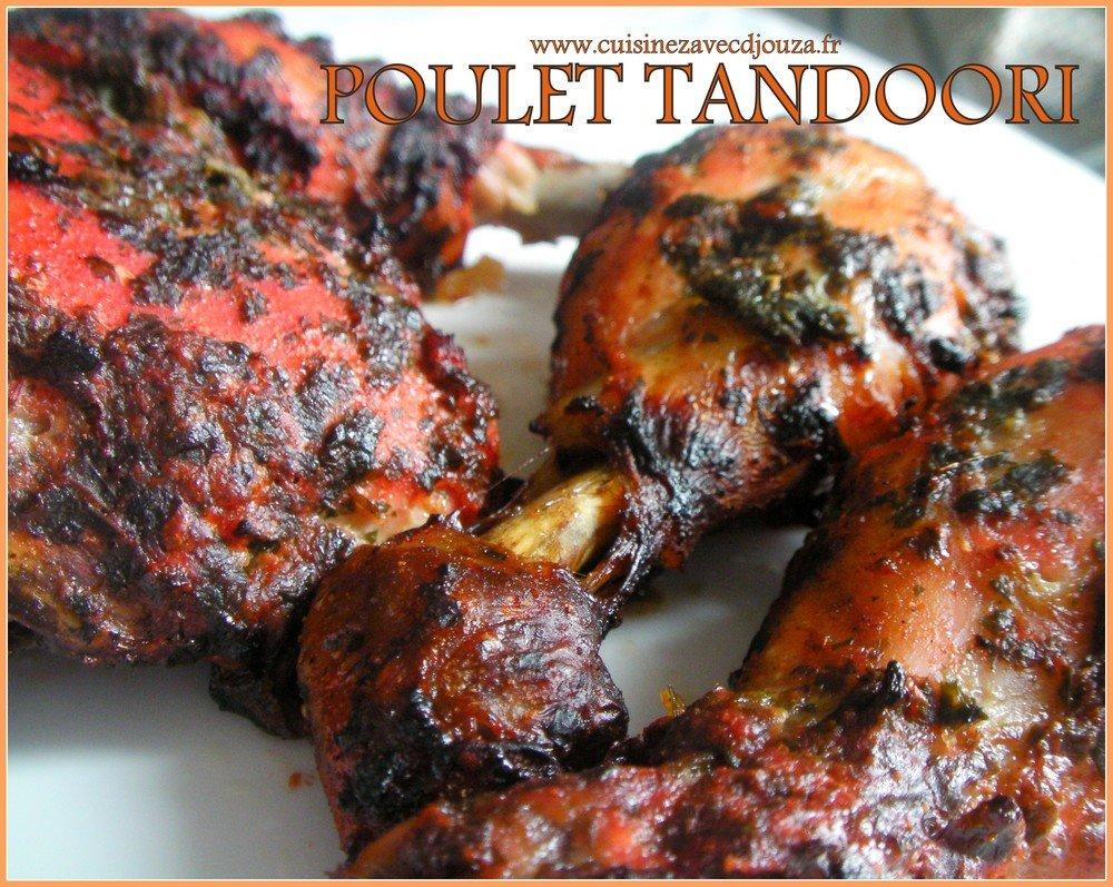 Poulet tandoori aux épices indiennes