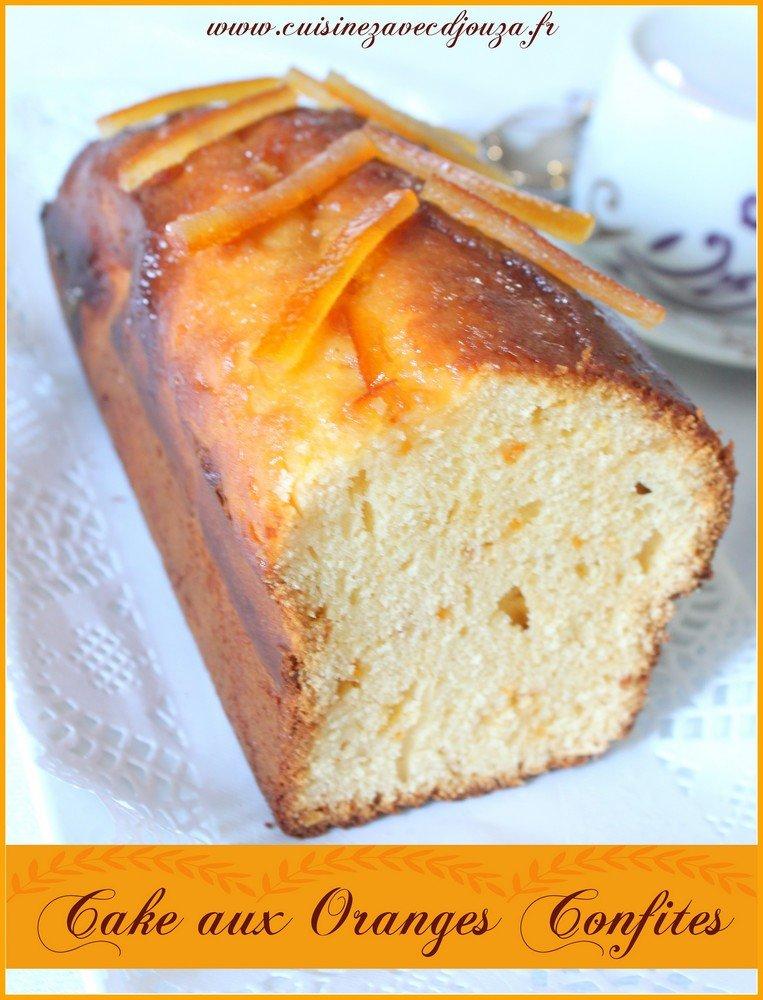 Cake aux écorces d'oranges confites