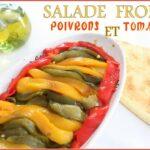Salade froide de poivrons tomates