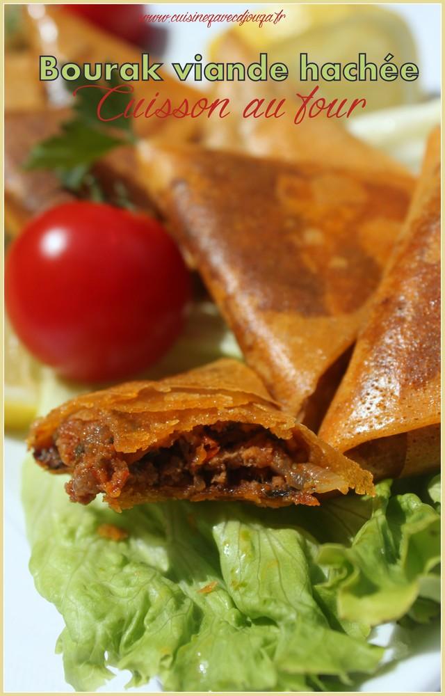 Bourek à la viande hachée cuisson au four recette ramadan