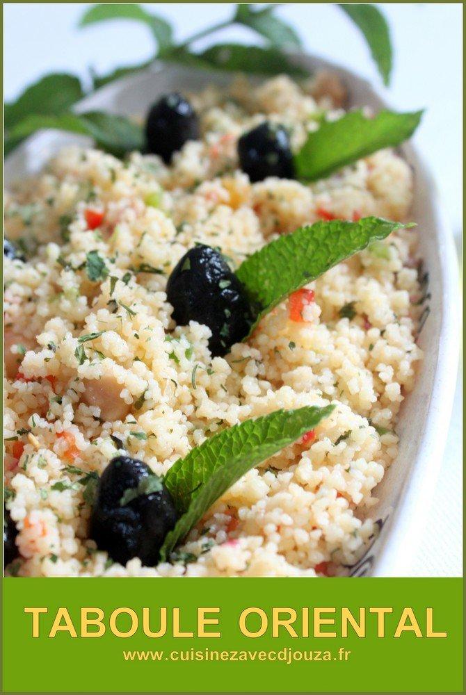 Taboulé oriental aux raisins et pois chiches recette maison