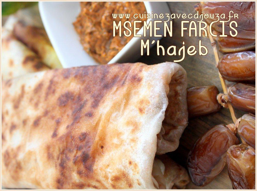 msemen feuilletés farcis mhajeb