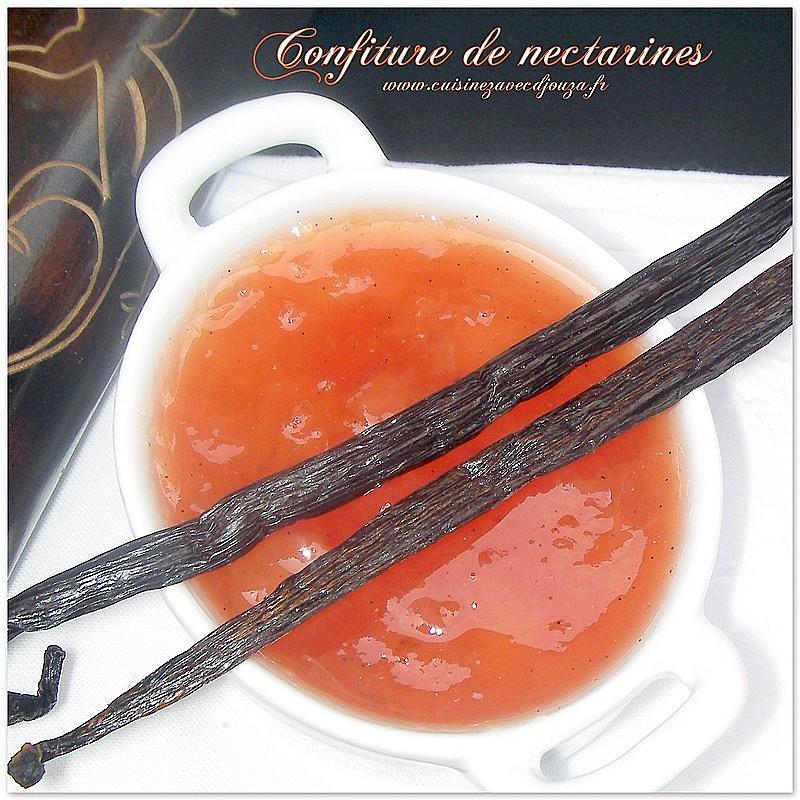 confiture de nectarines blanches et vanille recettes faciles recettes rapides de djouza. Black Bedroom Furniture Sets. Home Design Ideas