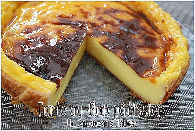 tarte au flan patissier recettes faciles recettes rapides de djouza. Black Bedroom Furniture Sets. Home Design Ideas