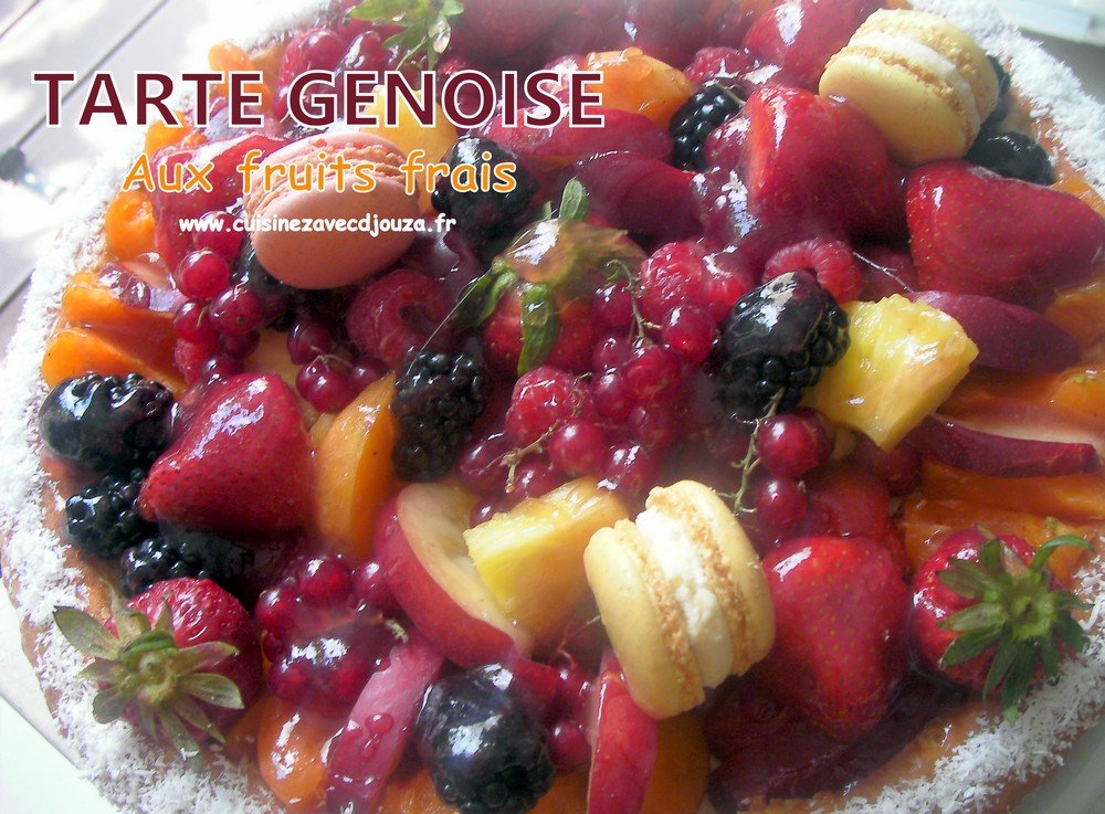 Tarte génoise au fruits frais