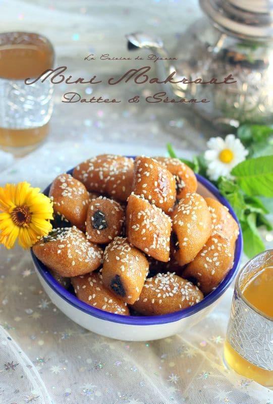 mini makroudes à la pâte de dattes