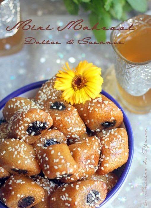 Mini makrout aux dattes et sésames blanches