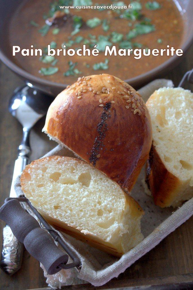 Pain brioché marguerite