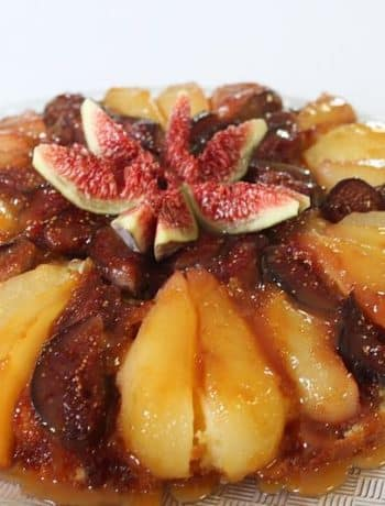 Gateau renverse figues poires caramel beurre sale