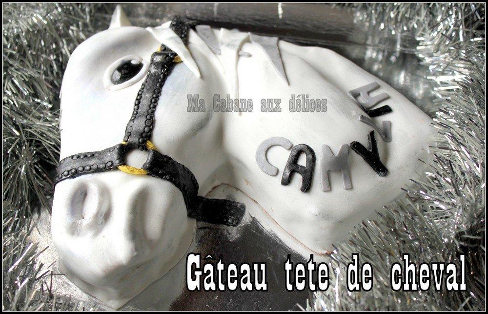 Gateau anniversaire tete de cheval