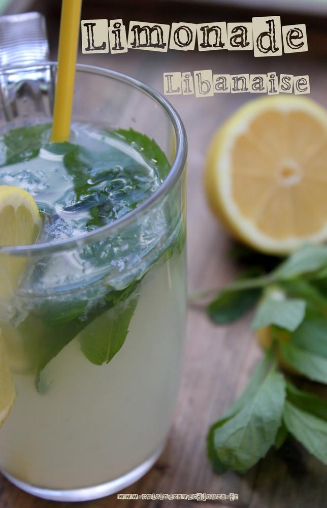 Limonade libanaise citron menthe fraiche