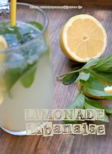 Limonade libanaise menthe fraiche fleur d'oranger