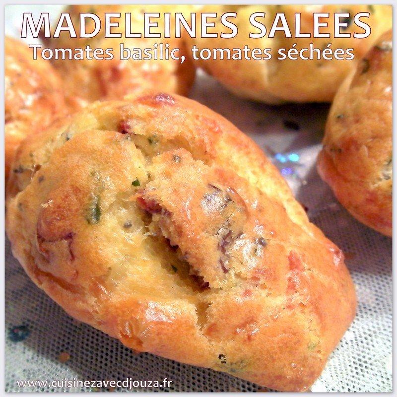 Madeleines feta basilic tomates sechees