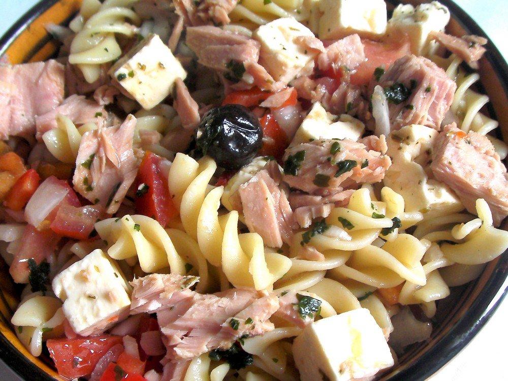 Salade de pâtes fusili au thon