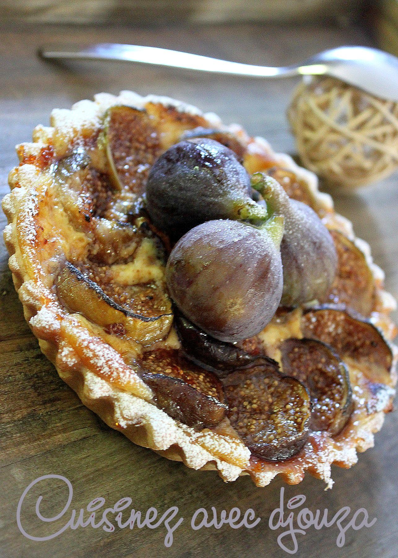 Tartelette aux figues crème brulée caramélisée