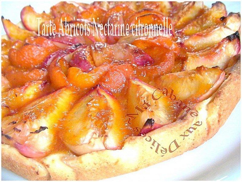 Tarte abricot nectarine