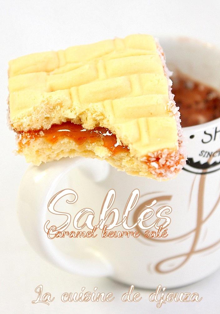 Sablé caramel