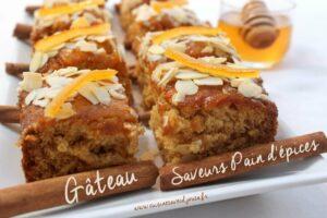 Gateau moelleux saveurs pain d'épices