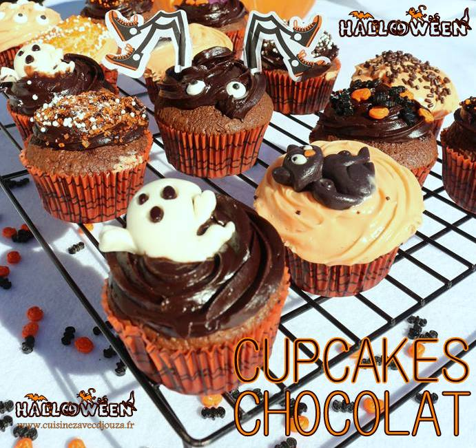 Cup cakes chocolat d'halloween