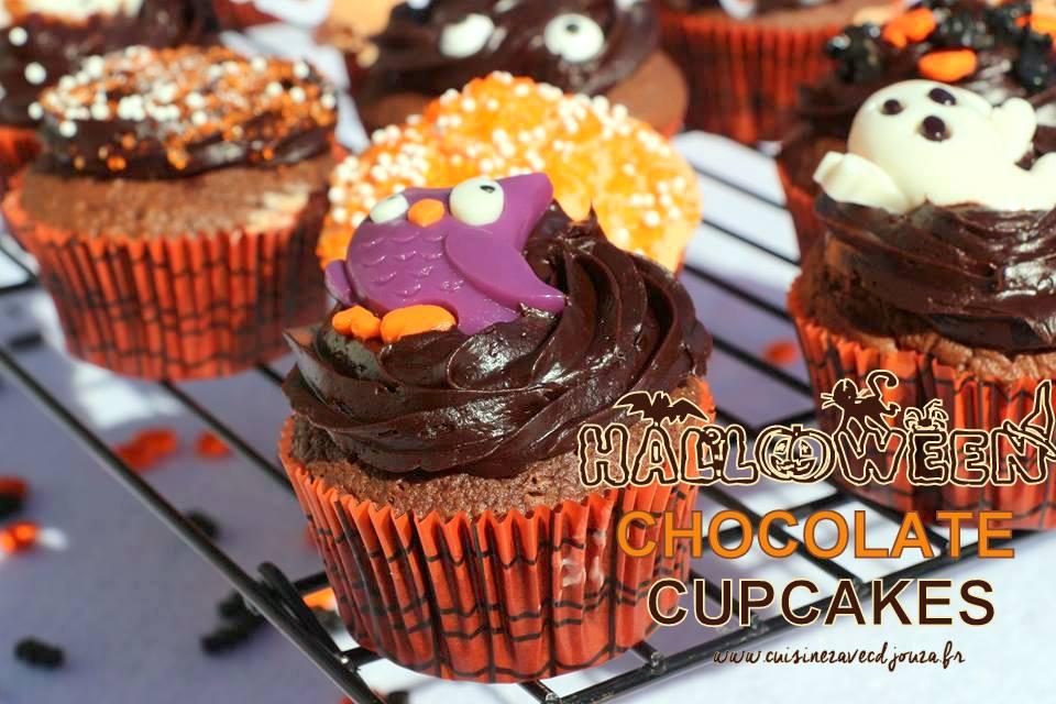 Cupcake chocolat d'halloween